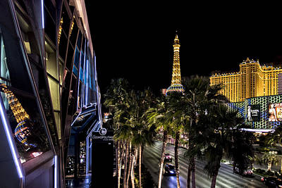 Photograph - Las Vegas Boulevard From Cosmopolitan To Paris by Jim Moss