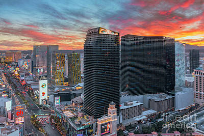Photograph - Las Vegas City Center At Sunset by Aloha Art