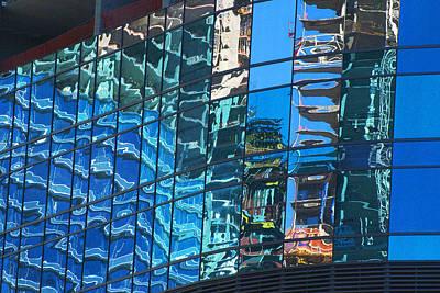 Las Vegas City Center Reflection Art Print by Richard Henne