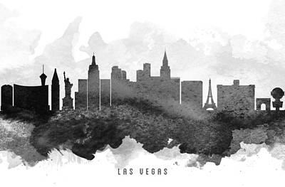 Las Vegas Cityscape 11 Art Print by Aged Pixel