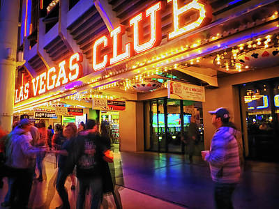Photograph - Las Vegas Club by Tatiana Travelways