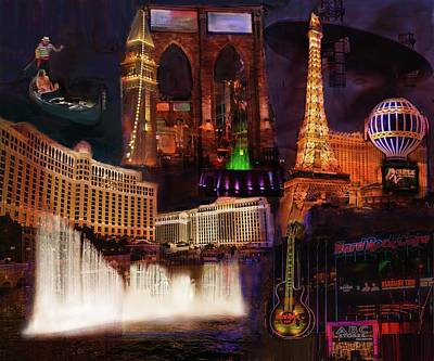 Digital Art - Las Vegas Collage by Eduardo Tavares