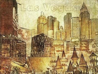 Digital Art - Las Vegas Collage Three by Eduardo Tavares