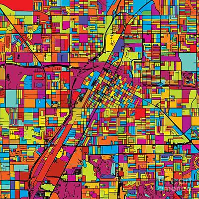 Las Vegas Colorful Map Original