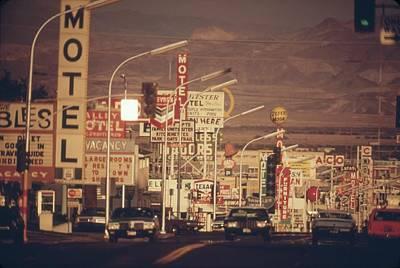 Las Vegas Commercial Street Art Print by Everett