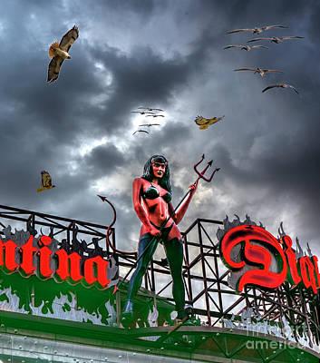 Photograph - Diablo's Monte Carlo Resort And Casino Mexican Cantina Composite by David Zanzinger