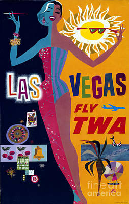 Airlines Photograph - Las Vegas Fly Twa Poster by Science Source