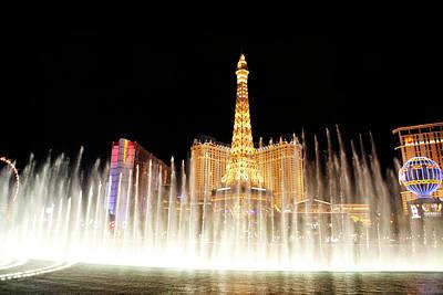 Photograph - Las Vegas Fountain Eiifel Tower by Marilyn Hunt
