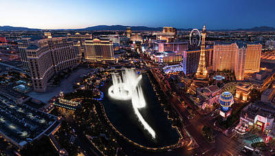 Las Vegas Lights Art Print by Steve Gadomski