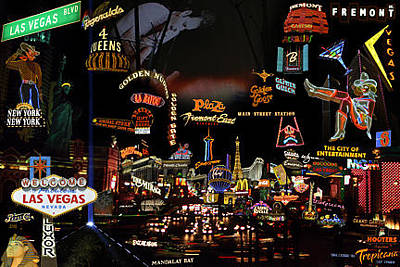 Las Vegas Montage Original by Jennifer Ferrier