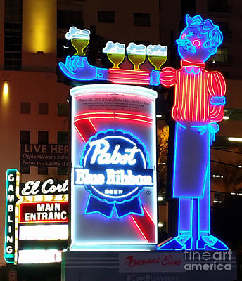 Painting - Las Vegas Neon Beer Sign by Gregory Dyer