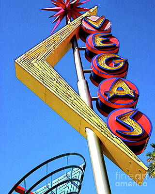 Photograph - Las Vegas Neon Sculpture On Fremont Street Fine Art Photograph Color Neon Landscape Architecture Pho by Tim Hovde