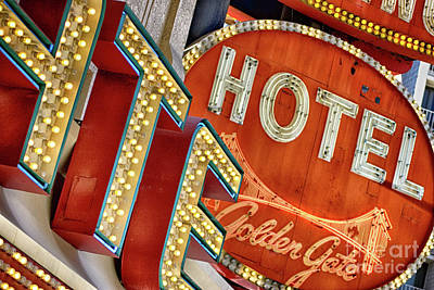 Photograph - Las Vegas Neon Signs by Toula Mavridou-Messer