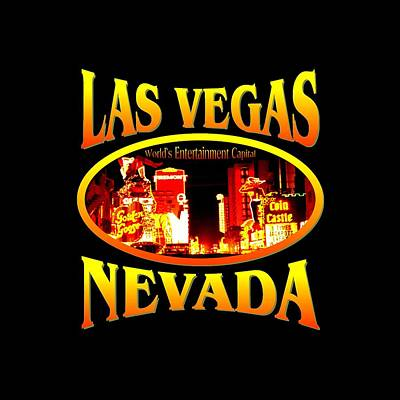 Mixed Media - Las Vegas Nevada Design by Peter Potter