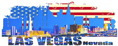 Las Vegas Nevada Skyline Original by Don Kuing