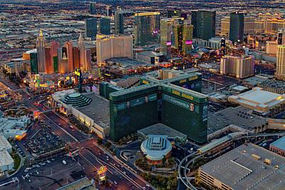 Art Print featuring the photograph Las Vegas Nv Strip Aerial by Susan Candelario