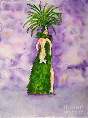 Art Print featuring the painting Las Vegas Show Girl by Vicki  Housel