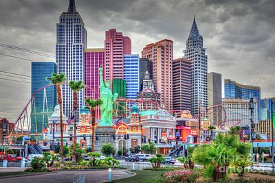 Photograph - Las Vegas Show Time Ny Ny Hotel by David Zanzinger