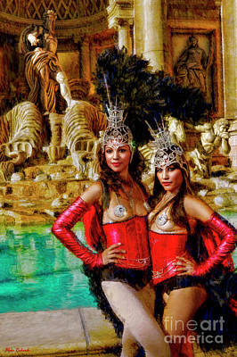 Las Vegas Showgirls Art Print