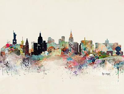 Painting - Las Vegas Skyline by Bleu Bri