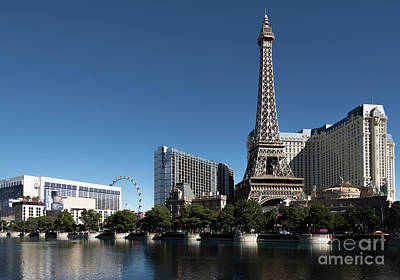 Paris Skyline Royalty-Free and Rights-Managed Images - Las Vegas Skyline by Patrick McGill