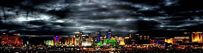 Digital Art - Las Vegas Skyline by Rod Jellison
