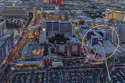 Photograph - Las Vegas Strip Aerial by Susan Candelario