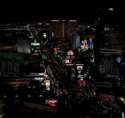 Photograph - Las Vegas Strip by Judy Vincent