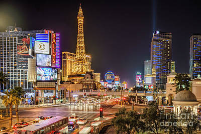 Las Vegas Strip Paris Art Print