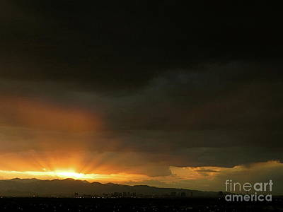 Photograph - Las Vegas Strip Sunset Mount Charleston Lee Canyon Fine Art Photograph Color Landscape Photo by Tim Hovde
