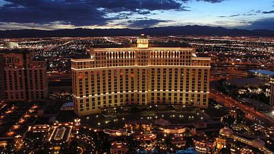 Skyline Digital Art - Las Vegas by Super Lovely