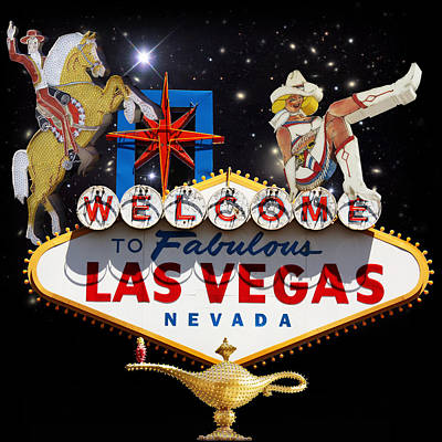 Icon Mixed Media - Las Vegas Symbolic Sign by Gravityx9  Designs