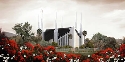 Lds Painting - Las Vegas Temple #2 by Brent Borup
