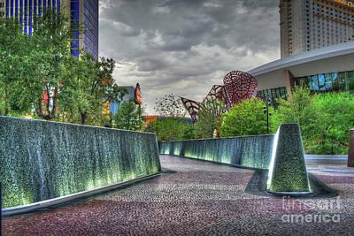 Photograph - Las Vegas Waterfall Display by David Zanzinger