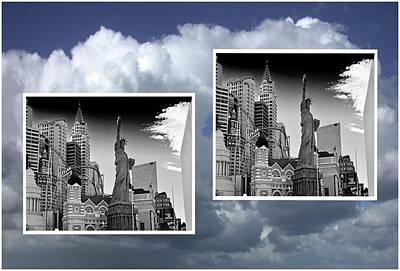 Art Print featuring the painting Las Vegas,new York by Athala Carole Bruckner