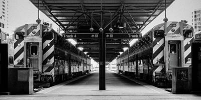 Photograph - Lasalle Street Trains by John McArthur