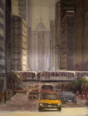Painting - Lasalle Street by Will Germino