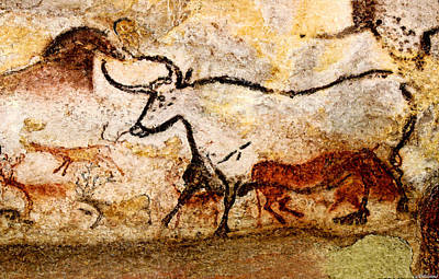 Lascaux Hall Of The Bulls - Aurochs Art Print