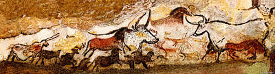 Digital Art - Lascaux Hall Of The Bulls by Weston Westmoreland