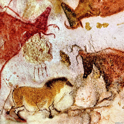Digital Art - Lascaux Horse And Cows by Weston Westmoreland
