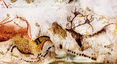 Digital Art - Lascaux Horse And Deer by Weston Westmoreland