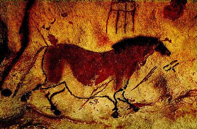 Lascaux Horse Art Print by Asok Mukhopadhyay