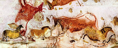 Digital Art - Lascaux Horses And Cows by Weston Westmoreland