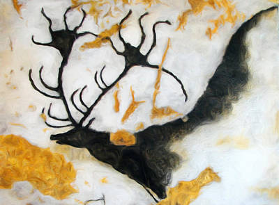 Digital Art - Lascaux Megaceros Deer 2 by Weston Westmoreland