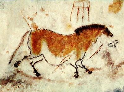 Chauvet Painting - Lascaux Prehistoric Horse by Weston Westmoreland