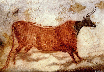 Painting - Lascaux Red Cow by Weston Westmoreland
