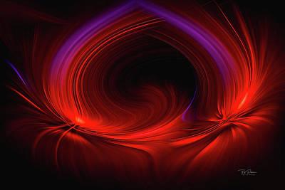 Laser Light In Red Art Print