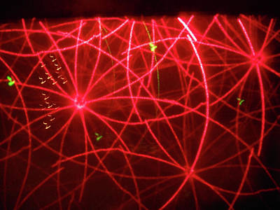 Photograph - Laser Lights 10 by Ron Kandt