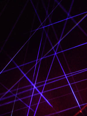 Photograph - Laser Lights 5 by Ron Kandt