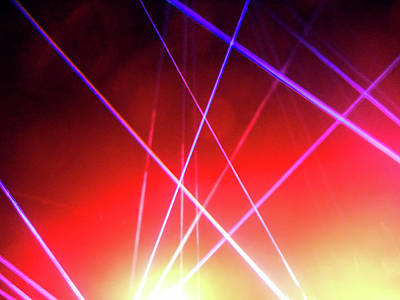 Photograph - Laser Lights 6 by Ron Kandt